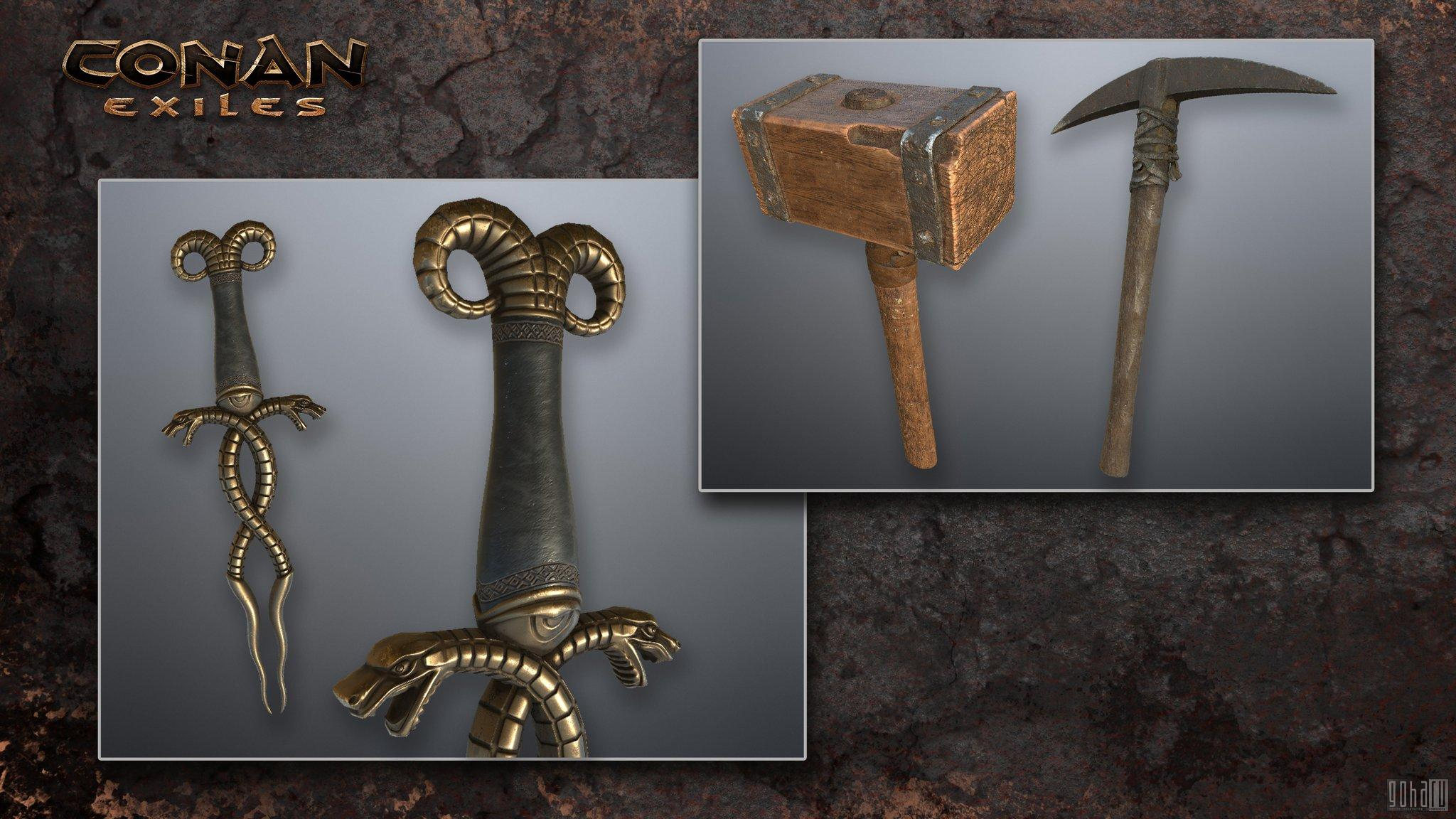 Conan exiles как сделать железный меч