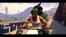GTA 5 'Follow The Damn Train CJ' - TV Spot Grove Street Movie HD
