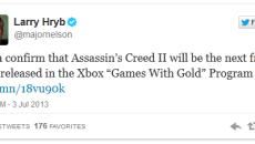 Бесплатный Assassin's Creed 2 для подписчиков Xbox Live Gold будет доступен завтра