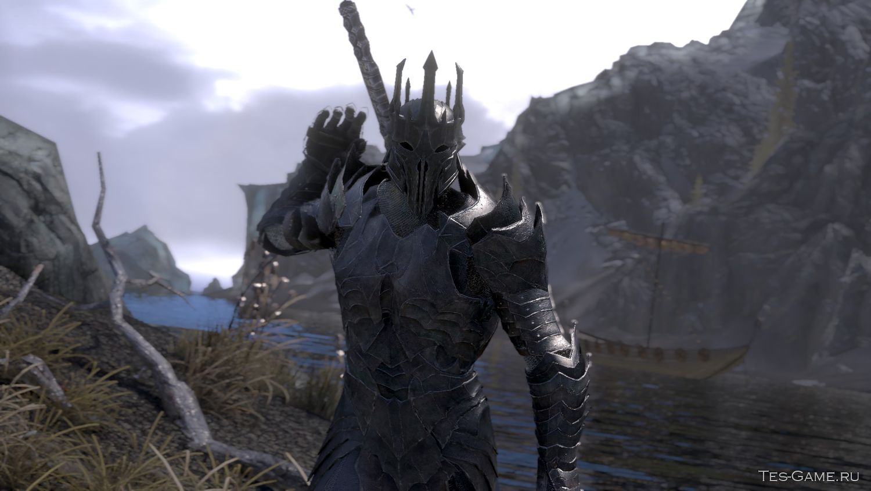 Скачать мод для скайрим на броню саурона