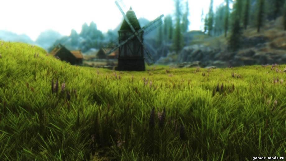 скачать мод на скайрим на траву