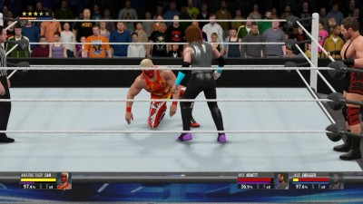 2K16MyCareer - Кончита Вурст & Jack Swagger VS Amazing Tiger