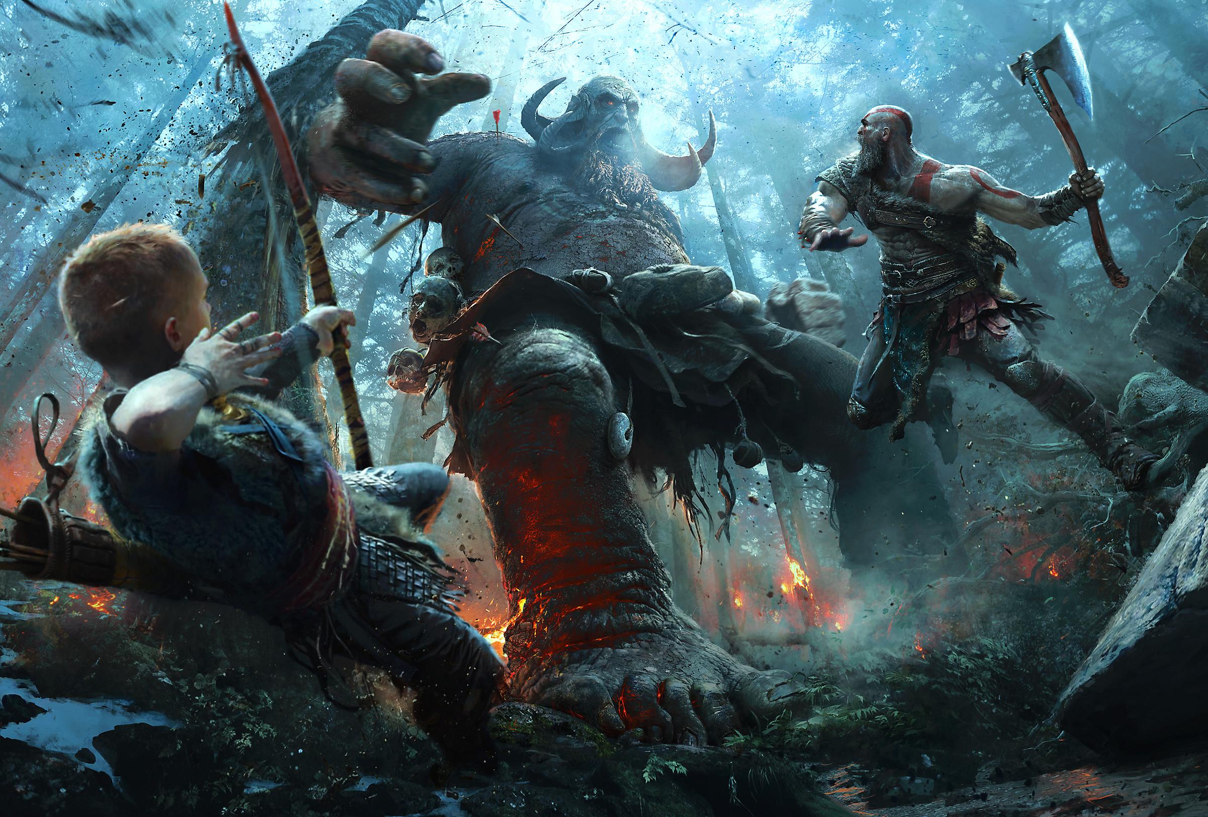 Sony раздаёт праздничный набор для God of War