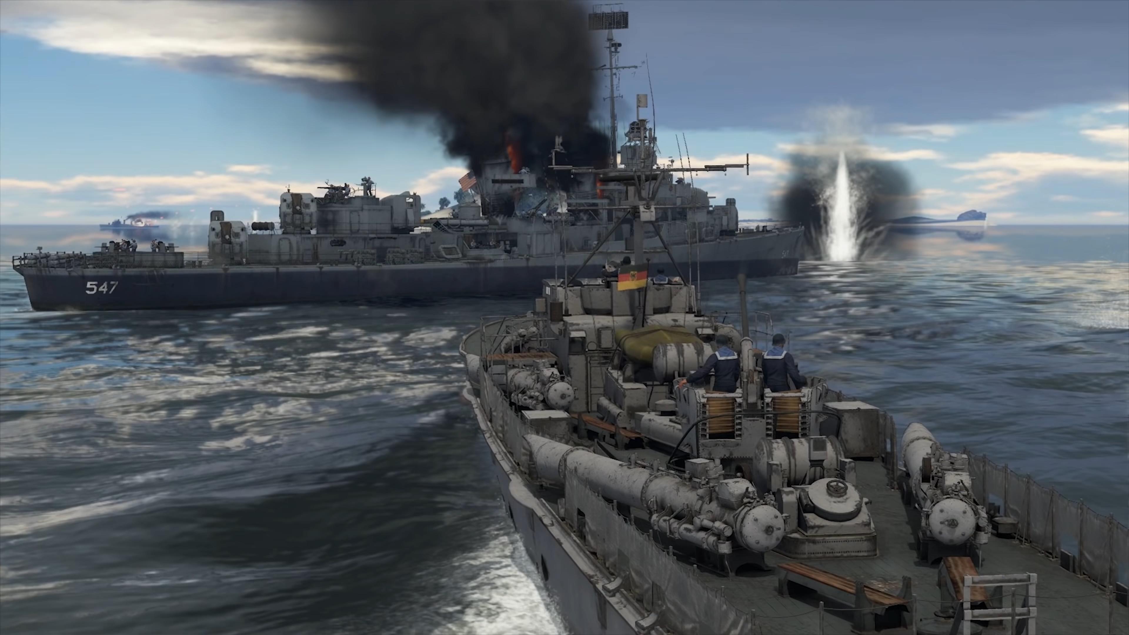 war thunder корабли геймплей