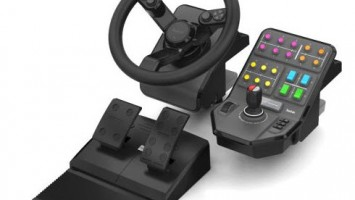 Педали, руль и панель управления Saitek для Farming Simulator