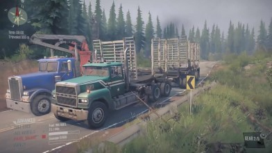 Spintires: MudRunner - Frieghtliner FLD-120 vs Ford LTL-9000