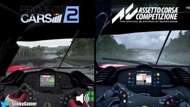 Сравнение Assetto Corsa Competizione vs Project CARS 2