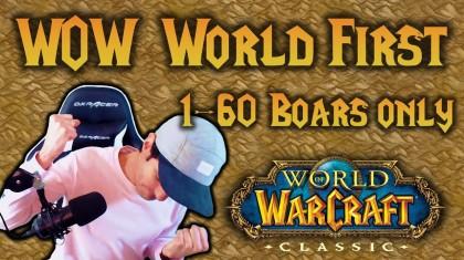 Игрок достиг максимального уровня в World of Warcraft Classic, убивая только кабанов