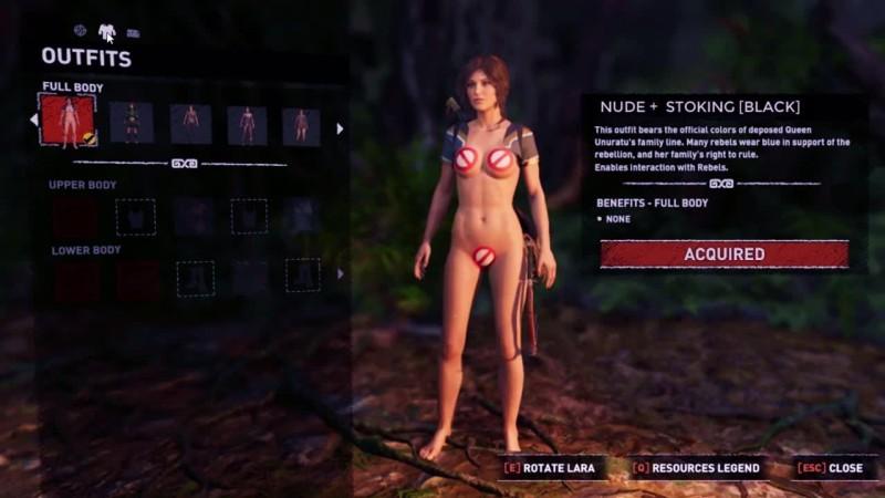 Лара Крофт в сексуальном бикини (модификация)