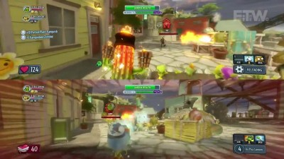 "Plants vs Zombies Garden Warfare ""Геймплей Split Screen кооператива"""