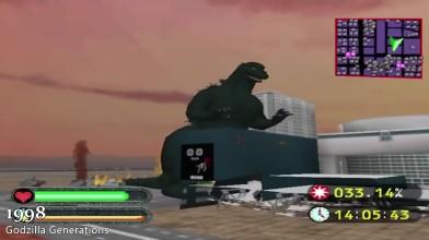 Эволюция Годзиллы (Godzilla) в играх