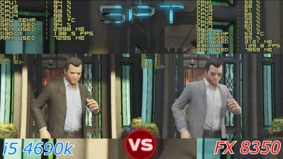 Grand Theft Auto 5 PC CPU Test - i5 4690 vs FX 8350 - Intel vs AMD