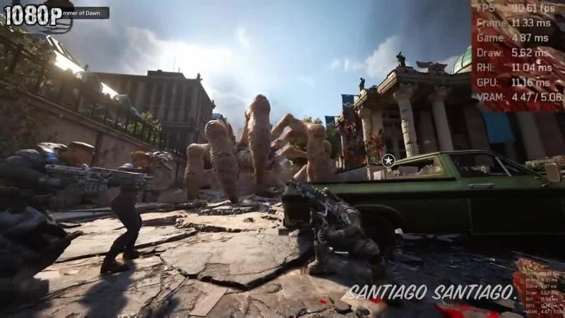Gears Of War 4 GTX 1060 - i5 (Simulated) - 1080p - 1440p - 4K