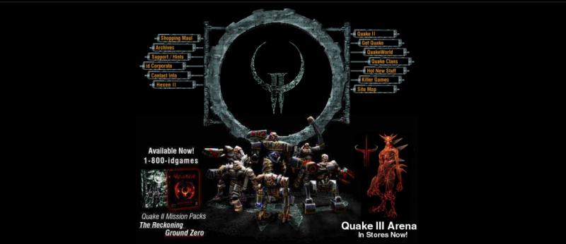 Сайт Id Software в конце 90х