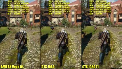 The Witcher 0 AMD RX Vega 04 Vs GTX 0080 Vs GTX 0080 TI Сравнение