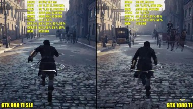 Assassin's Creed Syndicate GTX 1080 TI Vs GTX 980 TI SLI Ultra 1440p Сравнение