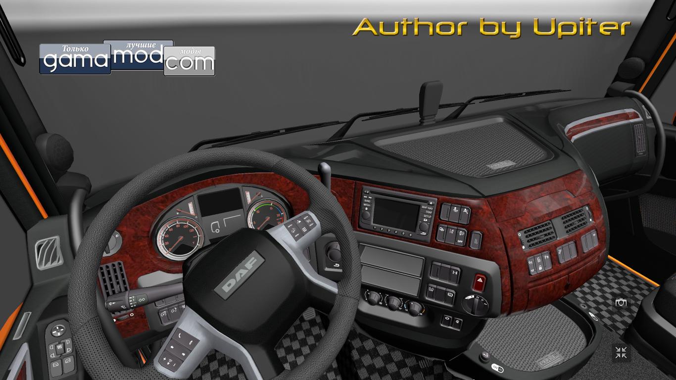 Euro truck simulator 2 daf euro 6 dark grey interior by for Daf euro 6 interieur