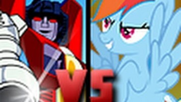 DEATH BATTLE!: Starscream VS Rainbow Dash