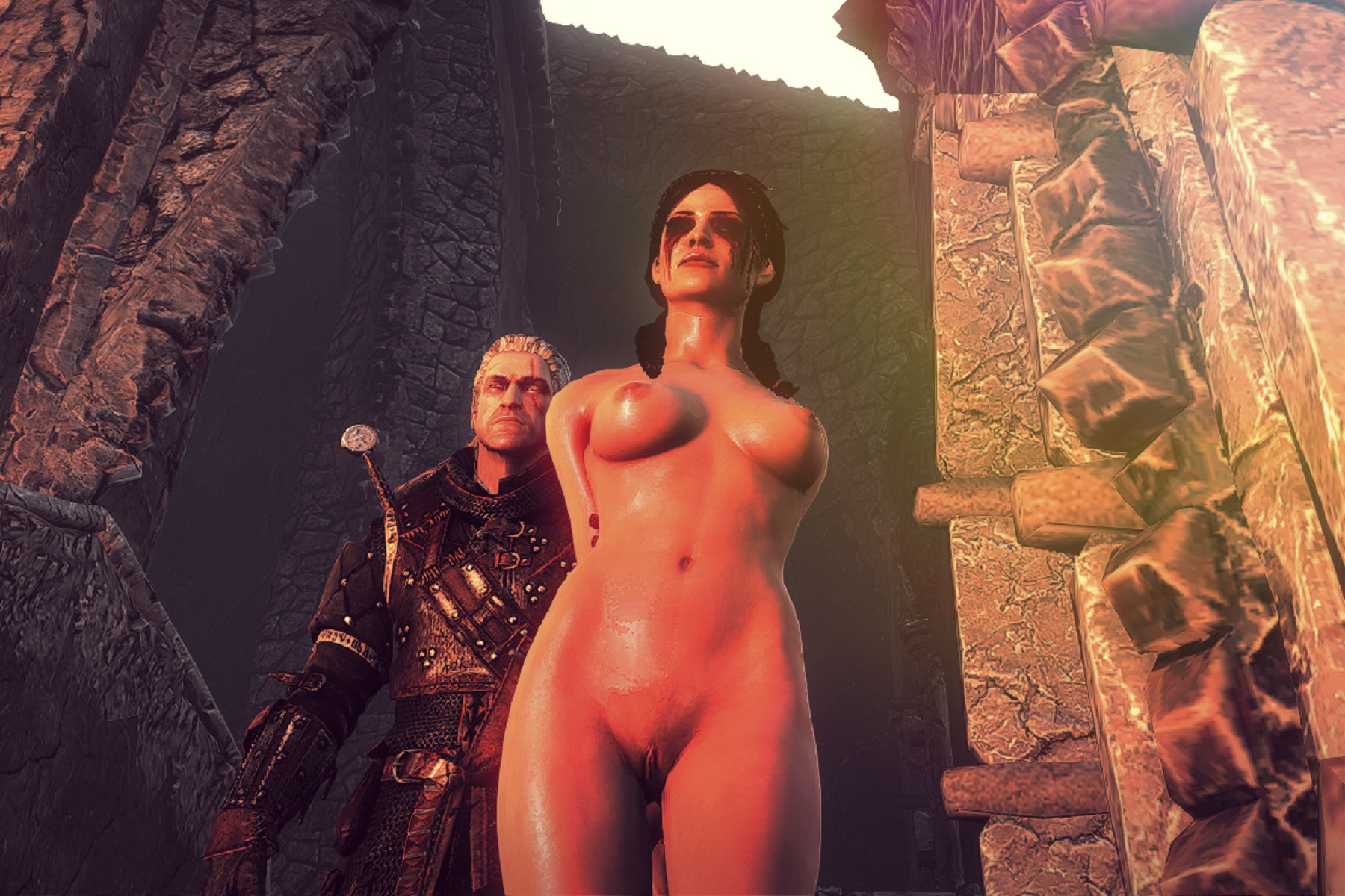 Witcher 2 nude scenes anime model