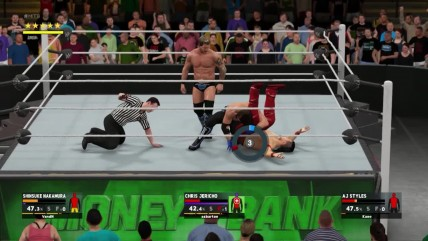 WWE 2K17 Online Treaple Threat - Shinsuke Nakamura VS Aj Styles VS Chris Jericho