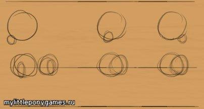 Круги - основа анатомии пони, голова - самый большой круг