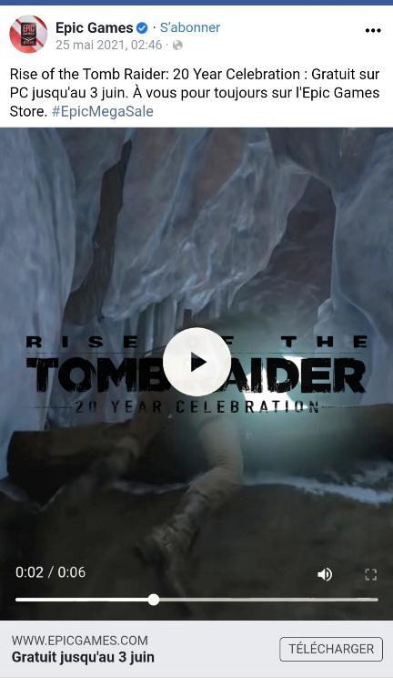 Rise of the Tomb Raider может стать следующей игрой в бесплатной раздаче Epic Games Store