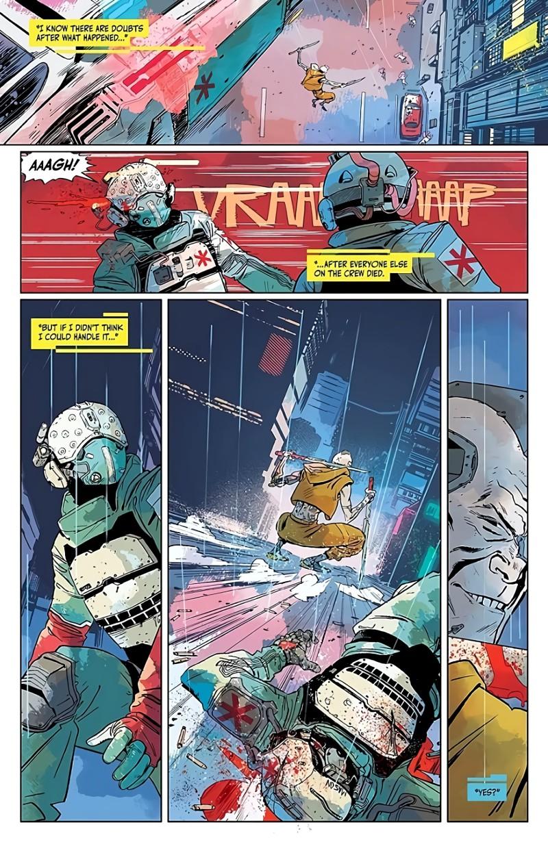 Новые страницы комикса Cyberpunk 2077: Trauma Team