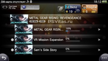 В трофеях к Metal Gear Rising: Revengeance появилась PS Vita