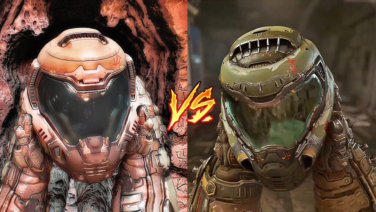 Doom Eternal vs Doom 2016 Сравнение графики