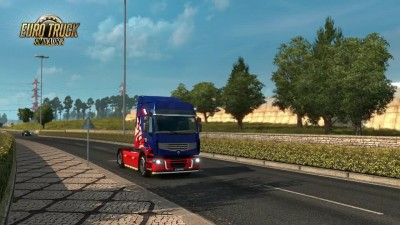 "ETS 2 ""DLC National Window Flags"""