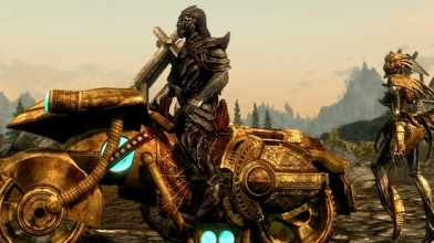 Мод для Skyrim превращает лошадь в мотоцикл