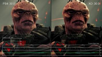 "Saints Row 4 (кат -сцены) ""Сравнение частоты кадров для PS4 vs Xbox One ""от Digital Foundry"