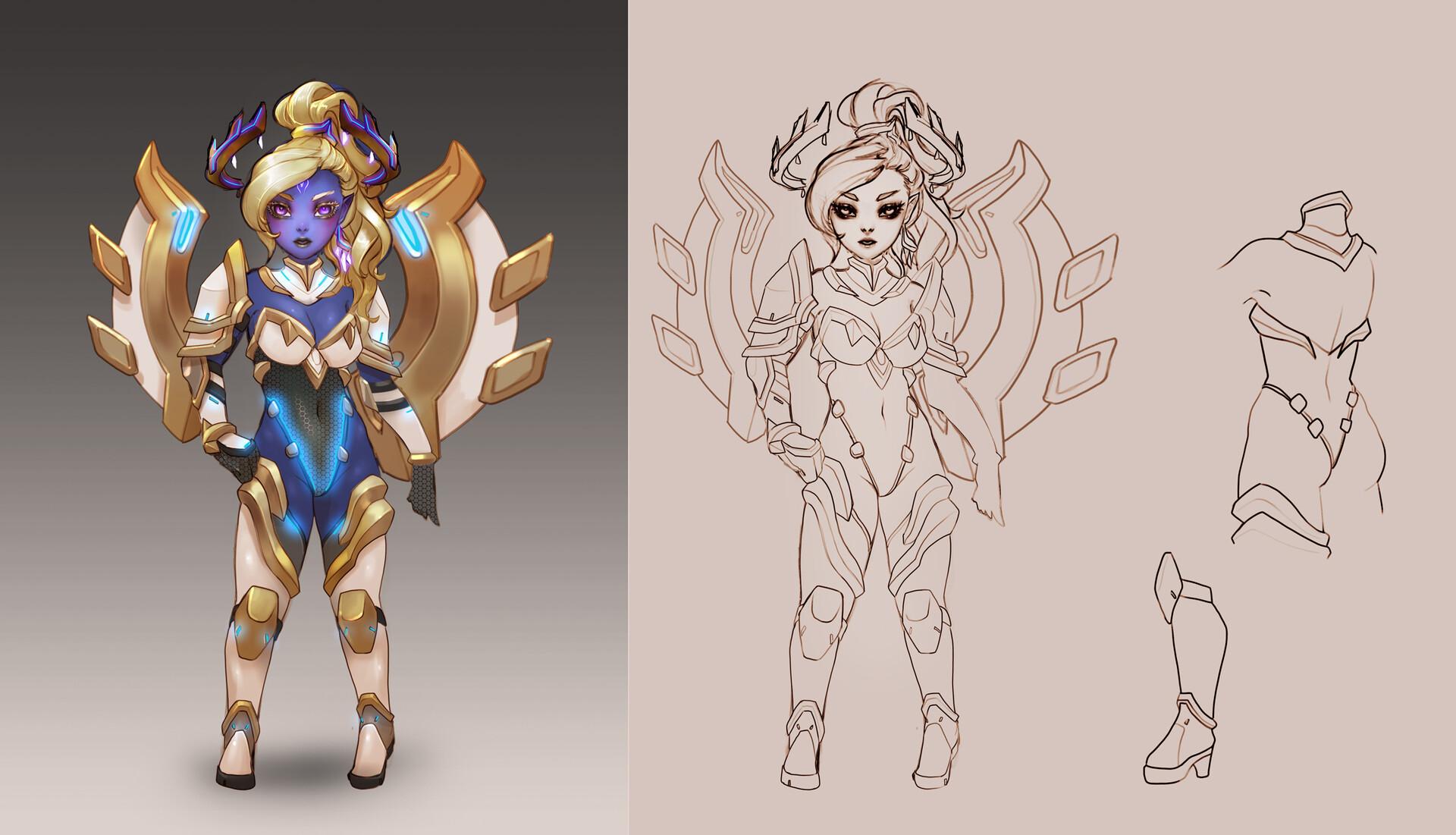 Дизайнер персонажей Subverse опубликовал концепт-арты принцессы Совалин Малиана