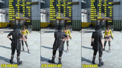 Final Fantasy XV 4K Titan Xp OC Vs GTX 1080 TI OC Vs GTX 1080 OC 8700K - Сравнение частоты кадров