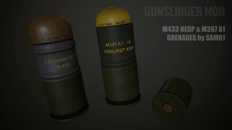 M433 & M397A1 grenades