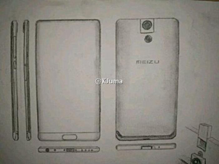 Безрамочному телефону Meizu Legent приписывают поворотную камеру
