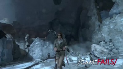 Rock and a Hard Place - Tomb Raider (Glitch) - GameFails