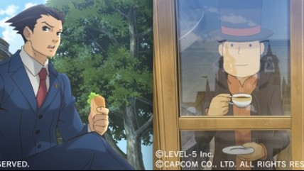Professor Layton VS Ace Attorney новый трейлер.
