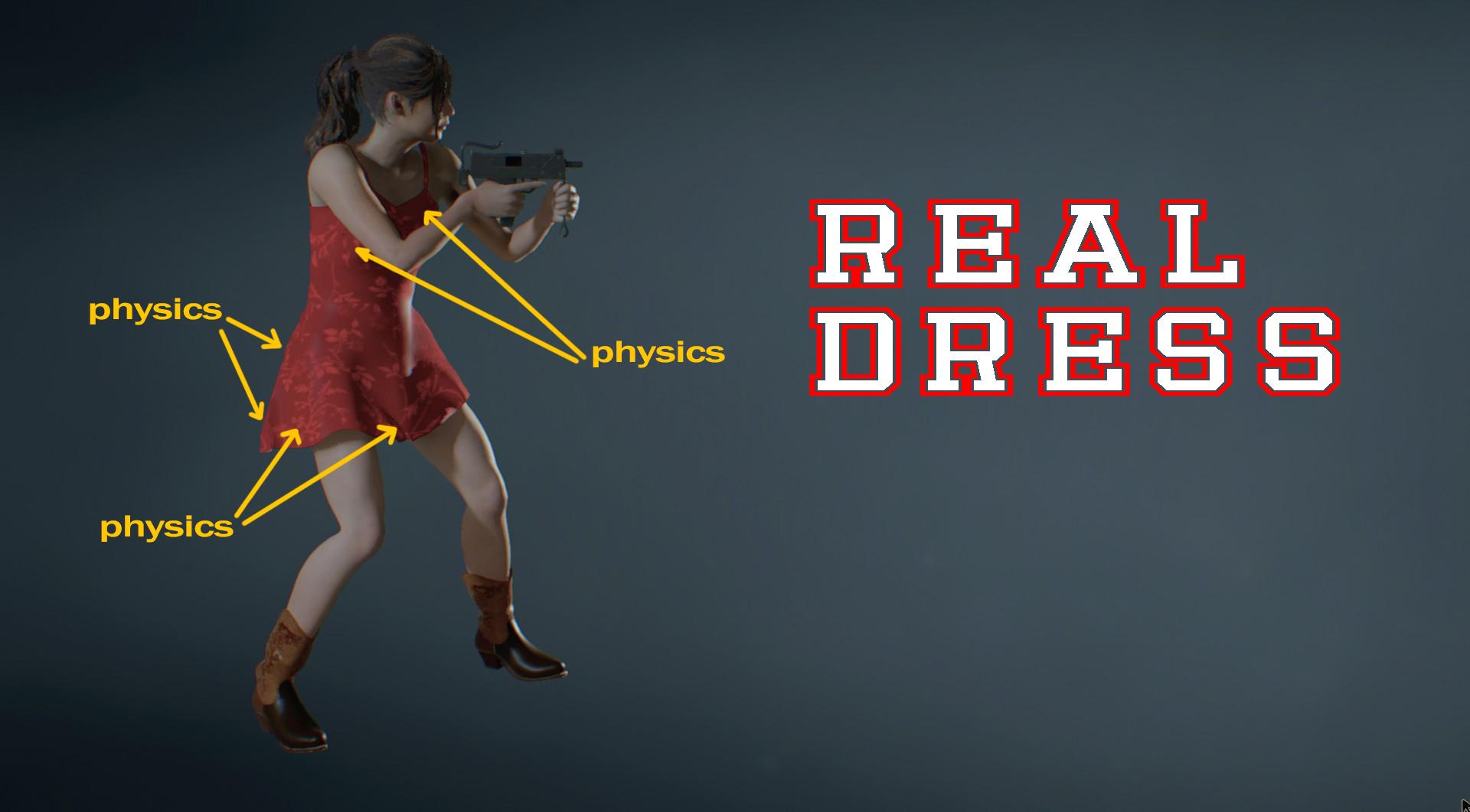 Новый мод Resident Evil 2 Remake приносит настоящее смоделированное платье с физикой для груди и ягодиц