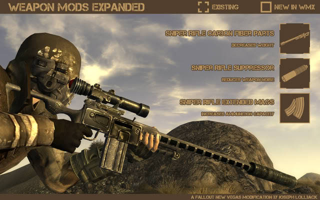 Fallout new vegas мод weapon mods expanded скачать