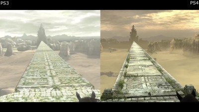 Shadow of the Colossus PS3 vs PS4 - Графическое Сравнение (Cycu1)