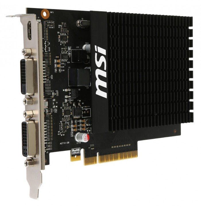 Видеокарта MSI GeForce GT 710 2GD3H H2D