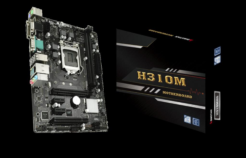Biostar H310MHG: плата для недорогого ПК с чипом Intel Core девятого поколения
