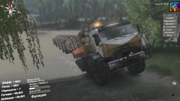 SpinTires. {03.03.16} Мод: КАМАЗ-Риат Полярник.