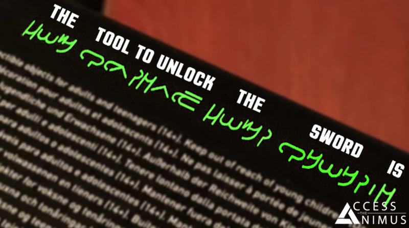 The Tool To Unlock The Sword Is / Инструмент для разблокировки - это меч