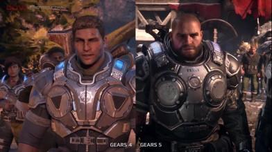 Gears of War - графику четвертой и пятой частей сравнили в новом видео