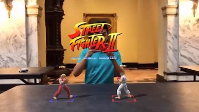 Культовый Street Fighter II возродился в AR