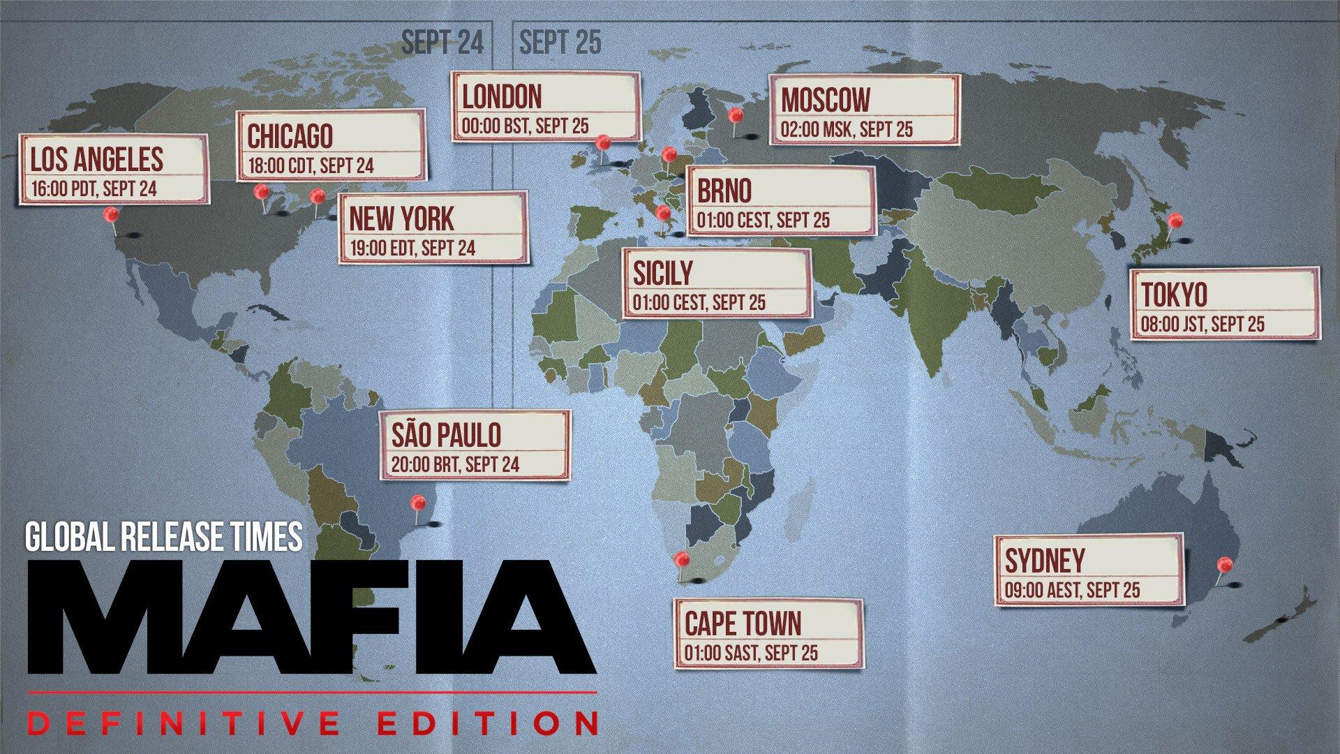 Hangar 13 сообщила время запуска Mafia: Definitive Edition в разных странах