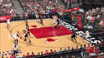 NBA 2K17 - Portland Trail Blazers vs Chicago Bulls | Игровой процесс (PC HD)