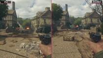 Call of Duty WWII бета - PS4 vs. PS4 Pro 0K Mode соотнесение графики